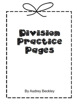 Division Practice Pages