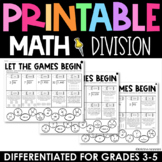 Division Practice - Printable Test Prep