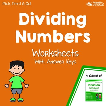Dividing Numbers, Division Practice Sheets