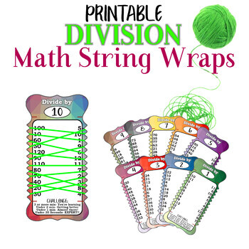 Division Practice String Wrap cards memorization mental math