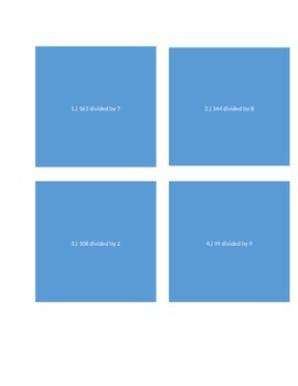 Division Practice Task Cards