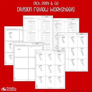 Division Review Worksheets