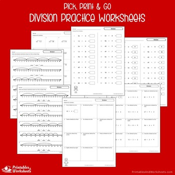 Division Practice Worksheets And Assessments, Long Division Hands On Sheets