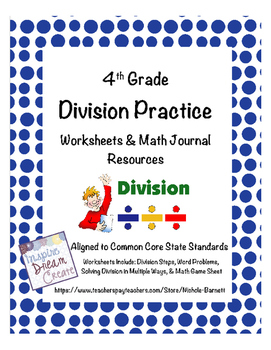Division Practice Worksheets & Journal Resources