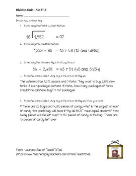 Division Practice or Quiz