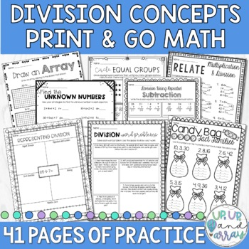 Division Worksheets Equal Groups Teaching Resources Teachers Pay