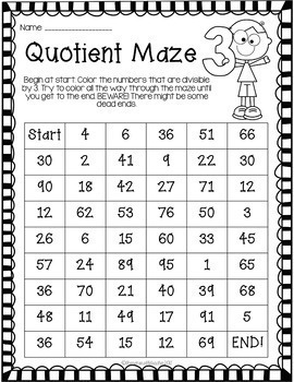 Division Worksheets- Print & Go Division Conepts!