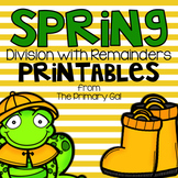 Division Printables {Spring Edition}