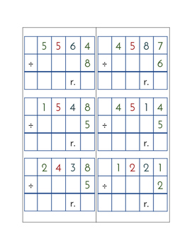 Division Problem Set - 72 Division Problems With & Without