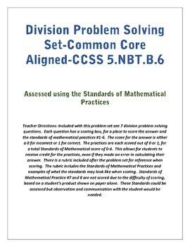 Division Problem Solving- 5.NBT.B.6