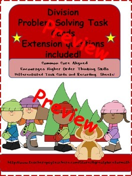 Division Problem Solving Task Cards