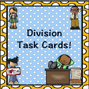 Division Problems Task Cards