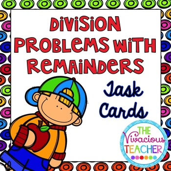 Division Problems with Remainders Task Cards