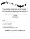 Division Project