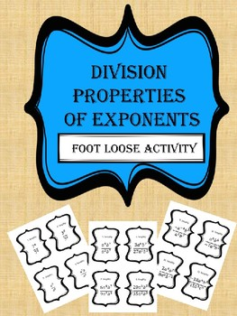 Division Property- Footloose Activity