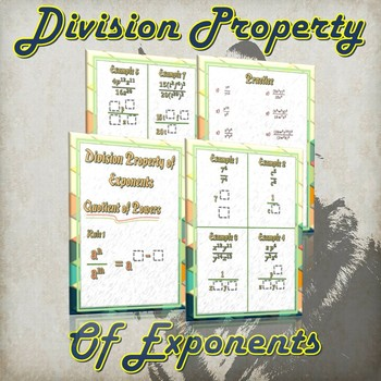 Division Property of Exponents  - (Guided Notes & Practice)