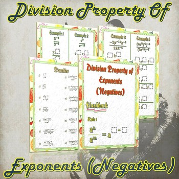 Division Property of Exponents (Negatives) - (Guided Notes & Practice)