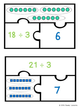 Division as Sharing Game Puzzles for a Division Center Activity 3.OA.2