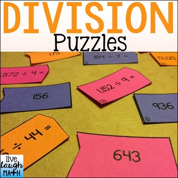 Division Puzzles: Division Math Centers