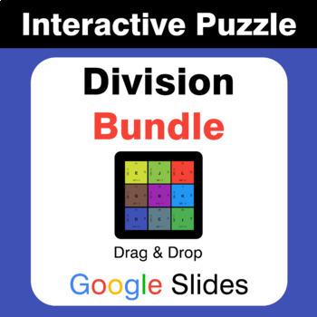 Division Puzzles with GOOGLE Slides Bundle