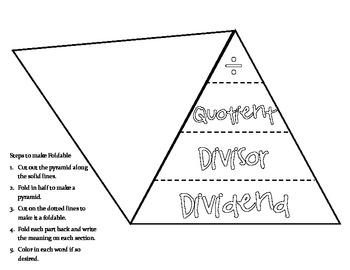 FREE Division Pyramid-Foldbook