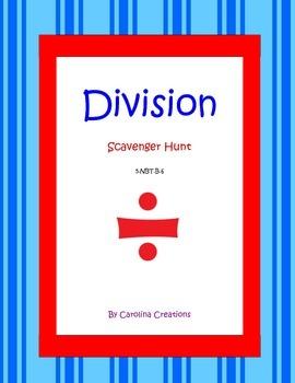 Division QR Code Scavenger Hunt - 5.NBT.B.6 Fifth Grade Common Core Math