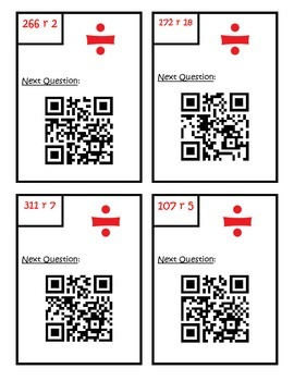 Division QR Code Scavenger Hunt - 5.NBT.B.6 Fifth Grade Common Core Math