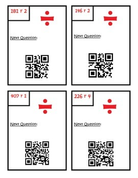 Division QR Code Scavenger Hunt Fourth Grade Common Core Math 4.NBT.6