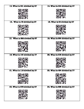 Division QR Code Scoot Cards