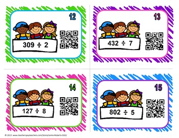 Division QR Code Task Cards
