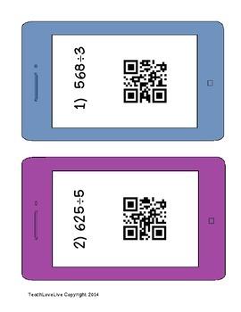 Division QR Codes 1 digit divisor