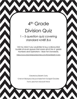 Division Quiz