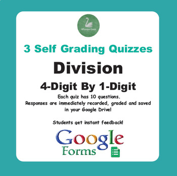 Division Quiz - 4-Digit By 1-Digit (Google Forms)