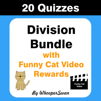 Division Quiz with Funny Cat Video Rewards [Bundle]