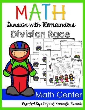 """Division Race {Math Center} 'War"""" Game 4.NBT.6"""