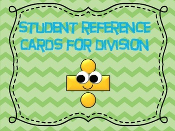 Division Reference Cards