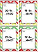 Back to School Division Relative to Multiplication Task Cards & Game 3.OA.6