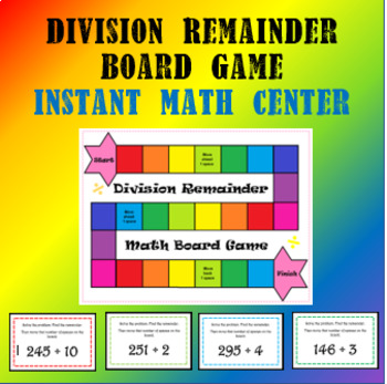 Division Remainder Board Game - Instant Math Center
