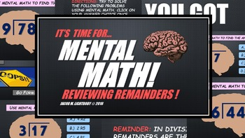 Mental Math: Division & Remainders