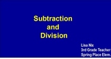 Division: Repeated Subtraction and Using a Number LIne