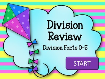 Division Review Game. Fact Families 0-5. Powerpoint. Kites