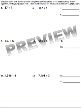 Division Unit Review & Test