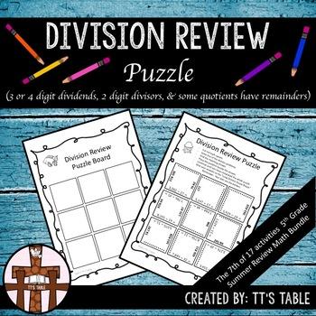 Division Review Puzzle