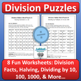 Division Review Worksheets (Puzzles)