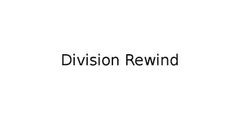 Division Rewind