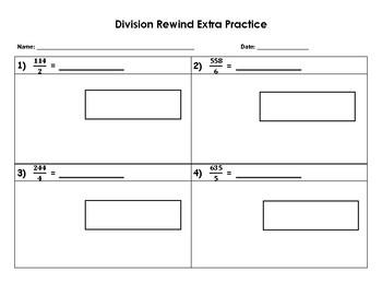 Division Rewind Extra Practice