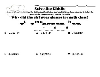 Division Riddle