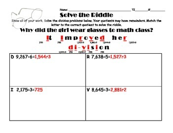 Division Riddle Modified