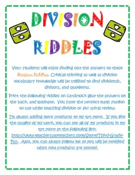 Division Riddles