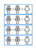 Robots Times Table Division Facts Write & Wipe, Autism, Special Education